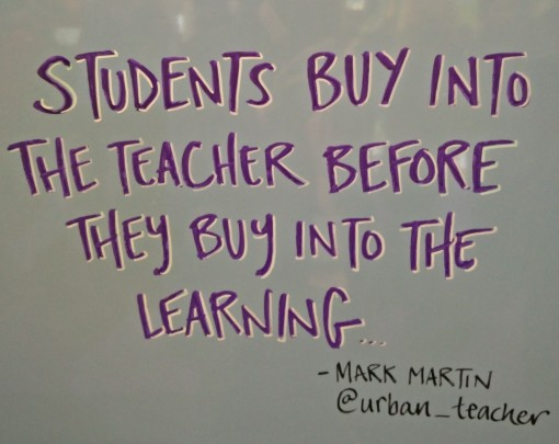 BETT 2016 – Students buy into teachers before learning.